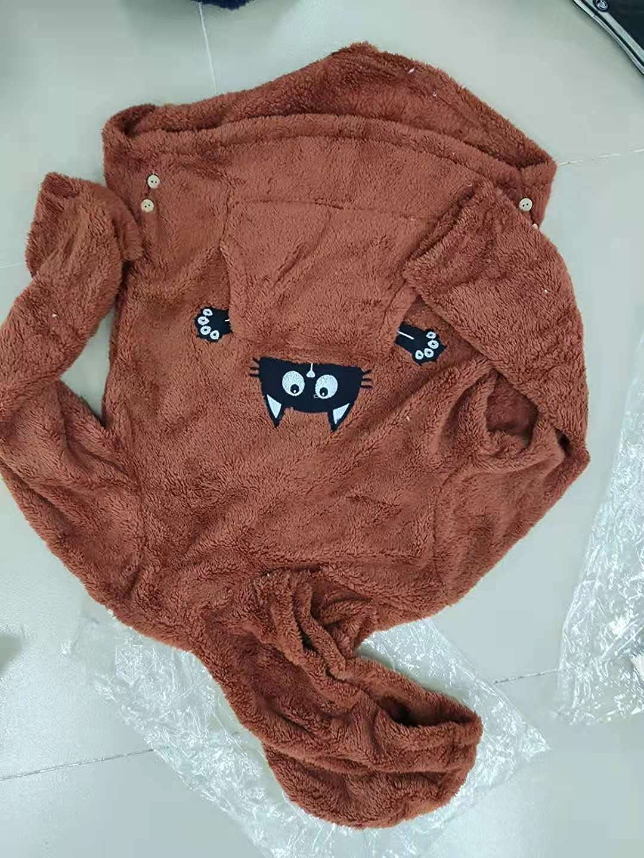 Womens Casual Graphic Cat Ears Jacket Hoodies Button Faux Fuzzy Long Sleeve Fluffy Fleece Sweatshirt Coat with Pocket