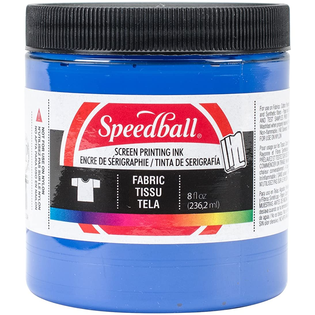 Speedball Art Products Fabric Screen Printing Ink, 8-Ounce, Blue (465282)