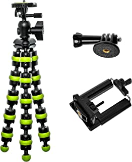 Flexible Tripod - Vlogging Tripod - Cell Phone Tripod for iPhone X 8 Plus 7 with Gopro Mount, Bontend
