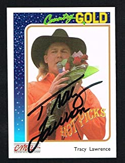 Tracy Lawrence #8 signed autograph 1992 CMA Country Gold Music Trading Card