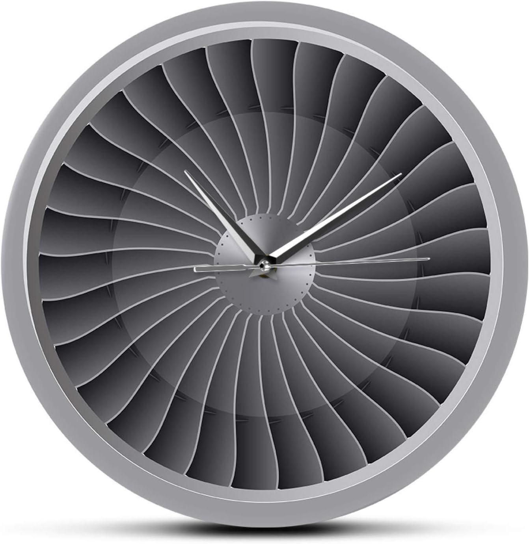 Wall Clock For Living Room Decor Aviation 25% OFF Engine Jet Max 61% OFF Turbine Fan
