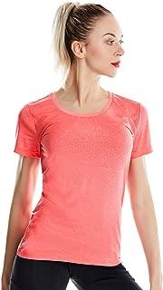 Women's Dri-fit Scoop Neck Gym T Shirts Short Sleeve Tech Stretch Yoga Tops for Women