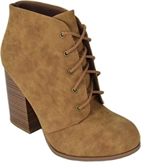 Speed Limit 98 Women Chunky High Heel Ankle Boots Lace Up Booties ZILPAH-S