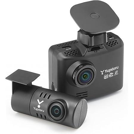 ユピテル 前後2カメラ ドライブレコーダー WDT510c シガープラグモデル 前方200万画素 後方100万画素 ノイズ対策済 LED信号対応専用microSD(16GB)付 1年保証 GPS Gセンサー 駐車監視機能 Yupiteru【Amazon.co.jp限定】