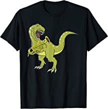 Funny T-Rex Dinosaur Playing Tuba Gift For Low Brass Players T-Shirt