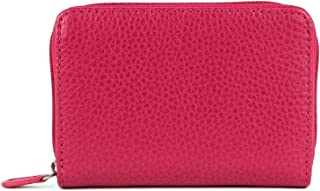 Laurige France Small Women's Leather Wallet Fuchsia