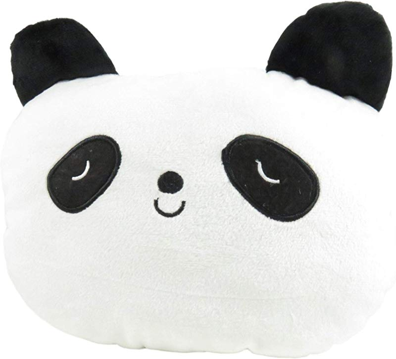 Daiso Adorable Panda Car Seat Neck Head Rest Pillow Pad 10 X 7 5 Inches White Black