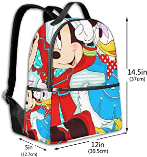 Classic School Backpack Minnie Mouse and Daisy Duck Unisex College Schoolbag Travel Bookbag Black