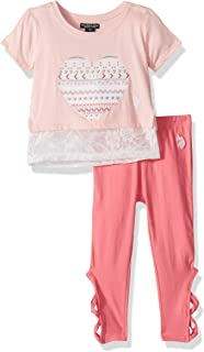 Girls' Toddler 3 Piece Tunic, Jersey Tank, and Pull-on...