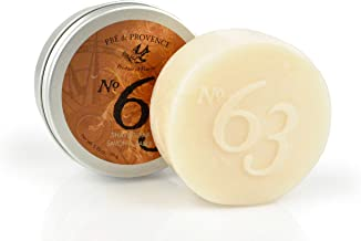 No. 63 Men's 150 Shave Soap with Tin, Aromatic, Warm, & Spicy Masculine Fragrance, Quad-Milled For Long Lasting Soap & Enr...