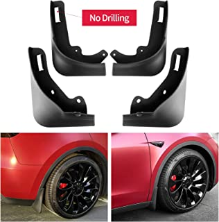 Carwiner Tesla Model Y Mud Flaps Splash Guards No Need to Drill Holes Fender Mud Guard Accessories (Set of 4)