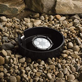 Kichler Lighting 15747BKT LED Well Light 6-Light Low Voltage 35 Degree Medium Spread Light, Textured Black with Clear Tempered Glass Lens