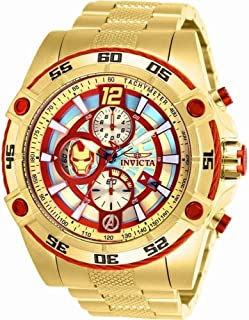 Invicta Marvel Limited Edition 26799 Iron Man Quartz 52mm Gold Case Red/Gold Dial Men's Watch