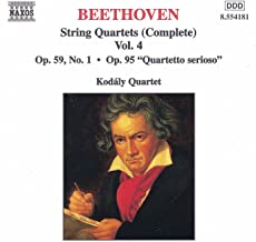 Beethoven: String Quartets Op. 59, No. 1, 'Rasumovsky' And Op. 95, 'Serioso'