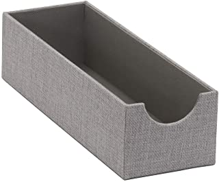 Household Essentials 725-1 Deep Drawer Organizer Box for Storage | 12 in x 4 in x 3.13 in | Grey, Fabric