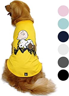 Zoozpets Snoopy Dog Shirt Clothes | Official Peanuts Licensee Dog Shirts in 7 Different Colors and Styles | Pet Apparel Dog t Shirt for Puppy, Small, Medium and Large Dogs