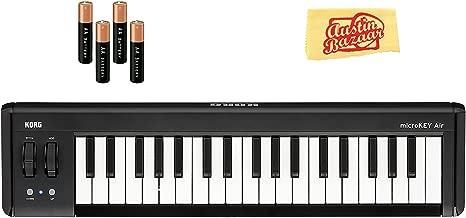 Korg microKEY Air 37-Key Wireless MIDI Controller Bundle with AA Batteries and Austin Bazaar Polishing Cloth