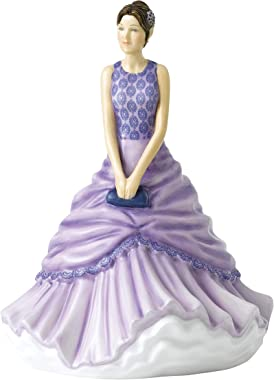 """Royal Doulton Ava, Petite of The Year 2020 HN 5924 Collectible Figurine, 6.7"""", Purple Dress"""