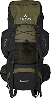 TETON Sports Scout 3400 Internal Frame Backpack; High-Performance Backpack for..