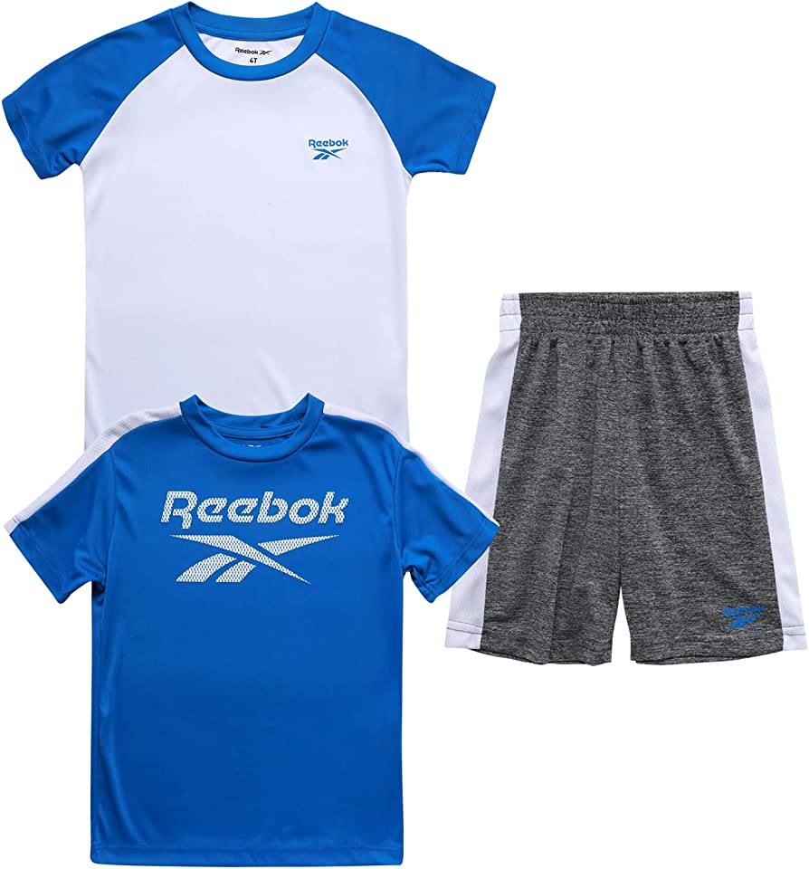 Baby Boys' Shorts Set – 3 Piece Short Sleeve T-Shirt and Shorts Playwear Set (Infant/Toddler)