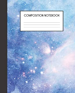 Composition Notebook: Painted Galaxy   College Ruled Notebook   Lined Journal   100 Pages   7.5 X 9.25