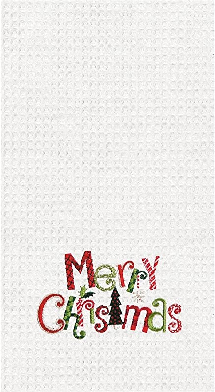 18X27 KITCHEN TOWEL MERRY CHRISTMAS