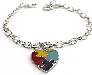 Autism Awareness Bracelets- Stronger Autism Bracelet with Puzzle Piece Charm