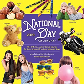 National Day 2019 12 x 12 Inch Monthly Square Wall Calendar, Holidays Everyday