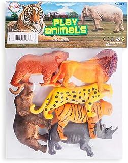 Animal Figure, 8 Inch Jumbo Jungle Animal Toy Set (6 Piece),Playkidz Toys Realistic Wild Vinyl Animal For Kids Toddler Chi...