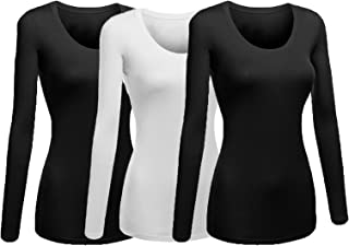 Best fitted scoop neck long sleeve tee Reviews