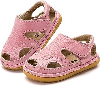 Gaatpot Unisex Niños Sandalias con Punta Cerrada Niña Niño Zapatos Sandalias de Vestir en Cuero Zapatillas Verano 18-38