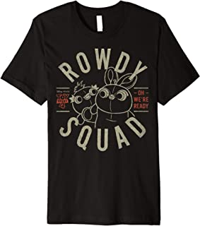 Pixar Toy Story 4 Ducky & Bunny Rowdy Squad Logo Premium Tee
