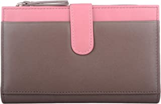Womens Soft Leather Slim Money/Coin/Credit Card Wallet