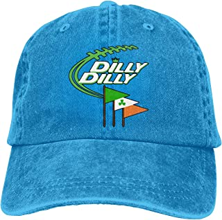 8206be404921f Dilly Dilly Bud Light Flag S.T Patrick s Day Unisex Vintage Adjustable Baseball  Cap Cotton Denim Dad
