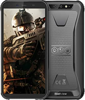 Rugged Cell Phone Unlocked, Blackview BV5500 GSM IP68 Waterproof Smartphone, Android 8.1 3G Dual SIM 5.5inches Quad Core 2GB+16GB,4400mAh Battery [MIL-STD 810G] [Facial ID] Mobile Phones,Black