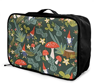 Abstract Art Watercolor Flowers Travel Lightweight Waterproof Foldable Storage Carry Luggage Large Capacity Portable Luggage Bag Duffel Bag