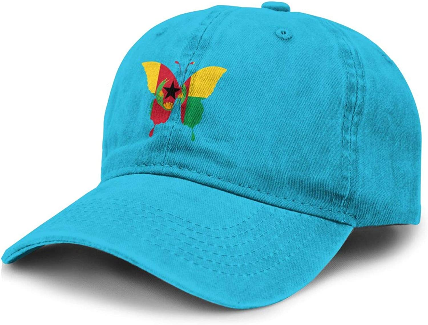 Butterfly Cape Verde Flag Adult Curved Brim Baseball Hat Sports Cowboy Cap
