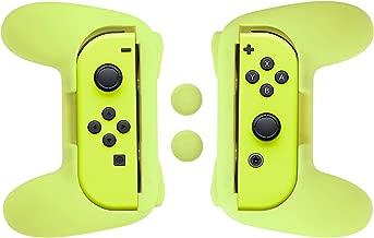 AmazonBasics Grip Kit for Nintendo Switch Joy-Con Controllers - Yellow