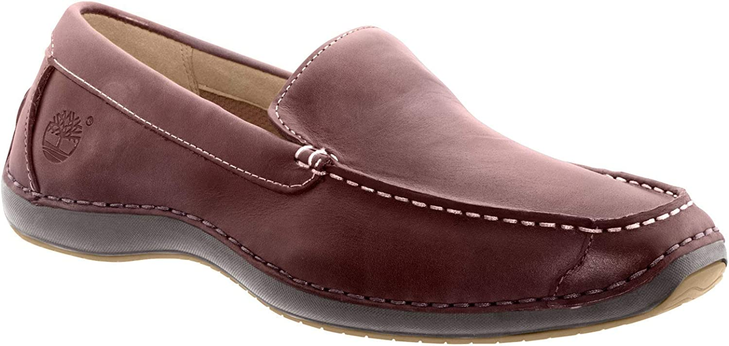 Timberland Men's Anapolis Boat Shoe (Medium / 12 D(M) US, Rootbeer Smooth Leather)