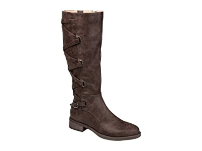 Journee Collection Carly Boot Extra Wide Calf (Brown) Women