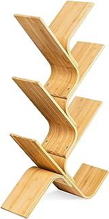 Navaris Bibliothèque en Forme d'arbre - Étagère en Bambou à 6 Niveaux pour Livres 108 x 59 x 20 cm - Rangement décoratif p...