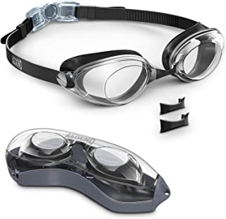 Aegend Swim Goggles, Nose Piece Replaceable Swimming Goggles with Flat Lens