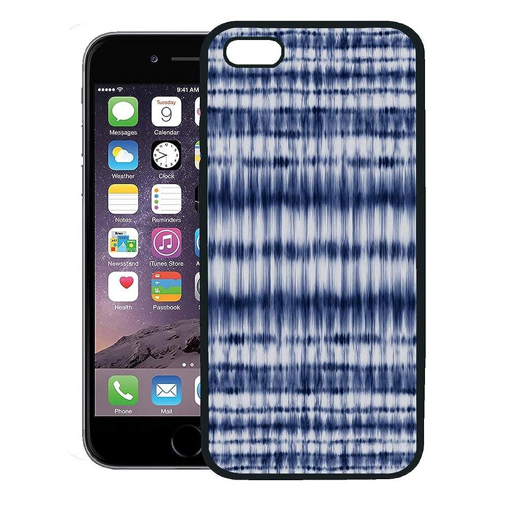 Semtomn Phone Case for iPhone 8 Plus case,Blue Dye Abstract Indigo Shibori Strokes Navy Tye Pattern Ethnic iPhone 7 Plus case Cover,Black