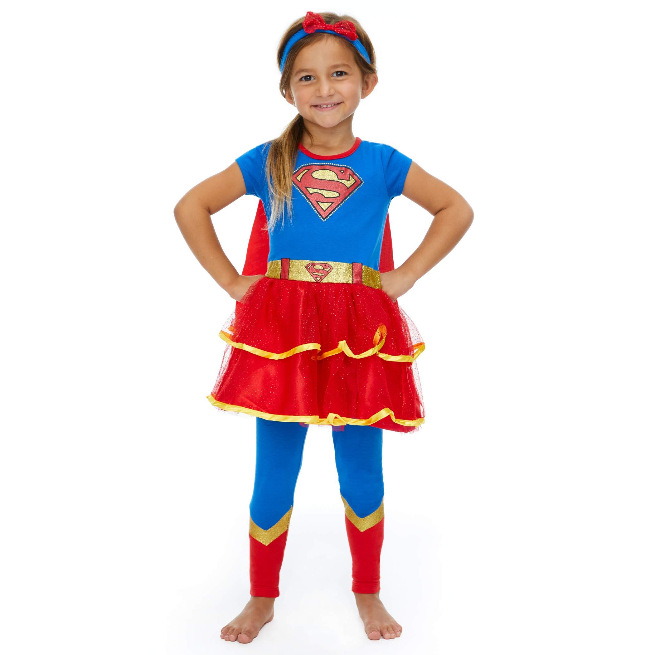 Warner Bros. DC Comics Disfraz de Supergirl con Vestido con Capa ...