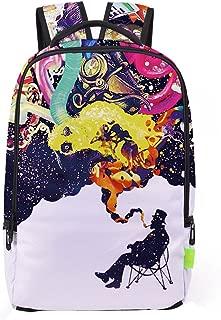 Han Shi School Bag, Women Men 3D Galaxy Travel Satchel Stylish Unisex Canvas Book Bag Shoulder School Bag
