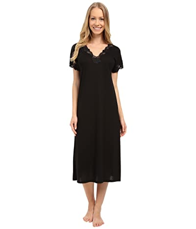 Natori Zen Floral Nightgown (Black) Women