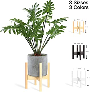 Mid Century plant stand/planter, indoor plant pots/indoor flower pot/ wood plant stand/large plant (Medium (Pod under 8