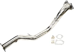 CarXX 3 Inch Exhaust Downpipe for Subaru WRX/STI EJ205 2.0L / EJ257 2.5L 2002-2007 Stainless Steel Downpipe with Gaskets and Hardware