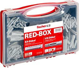 Fischer 040991 assortimentsbox RED-Box met universele pluggen UX en spreidpluggen SX-voor talrijke bouwmaterialen en diver...