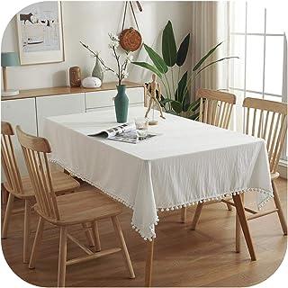 Table Covers Nappe Anti-Poussière Boule Laine Décor Couleur Unie Couverture Meuble TV Banquet Nappe Bureau Couvertures Man...